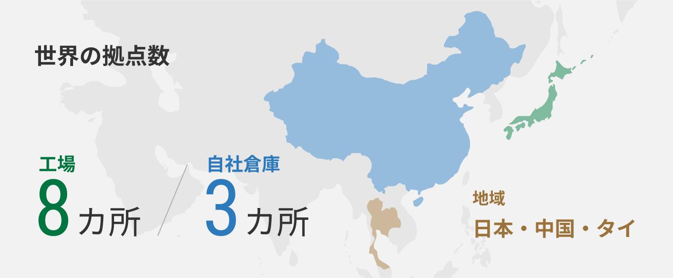 世界の拠点数